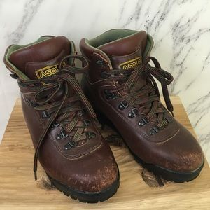VTG 90s Asolo Leather Mid Hiking Boots